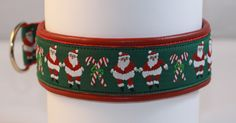 Jolly Santas dog collar for the holidays