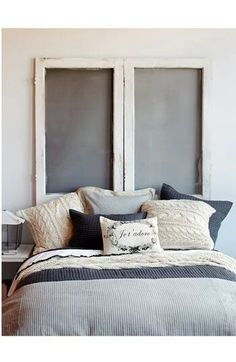 Bedding from Nordstrom. Love those inviting sweater pillows!