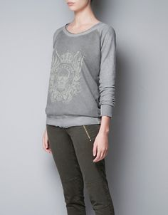 SWEATSHIRT ESTAMPADA - T-shirts - TRF - ZARA Portugal