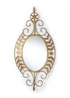 Chelsea House/19.5W x 36.5H  Small Leaves Mirror/$325 Silver Leaf/ Metal Frame/18 avail. thefrenchgardenia.com