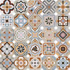 VODEVIL: Octógono Musichalls Multicolor - 20x20cm.   Floor Tiles - Porcelain   VIVES Azulejos y Gres S.A.