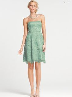 Mint green bridesmaid dress:  http://www.anntaylor.com/ann/product/product%3A267998/AT-FULL-PRICE-PROMO-STYLES/Silk-Embroidered-Strapless-Bridesmaid-Dress/267998?colorExplode=false=10447567=cata000012=fullPriceProducts=8031
