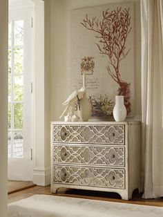 Shop for Hooker Furniture Sanctuary Fretwork Chest, and other Living Room Chests and Dressers at Goods Home Furnishings in North Carolina. Chest Furniture, Mirrored Furniture, Furniture Catalog, Hooker Furniture, Unique Furniture, Furniture Makeover, Furniture Outlet, Furniture Stores, Kitchen Furniture