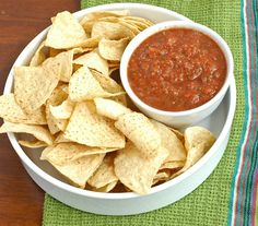 I could live on salsa...still looking for that perfect homemade recipe though. Here's a fire roasted one...