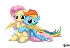 Fluttershy and rainbow dash