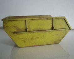 Bau-Schutt-Container-1-32-Spur1-Handarbeitsmodell-Polystyrol-gealtert-Washing
