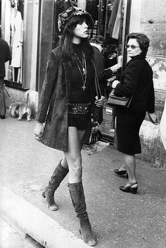 Hot pants and boots - early 1970s