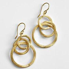 symbolic hoop earrings from RedEnvelope.com