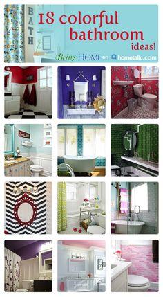 Incredibly colorful bathroom!