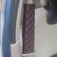 2 Unids/par Coche Correa Del Cinturón de Seguridad Hombreras Cubierta Suave Imitación De Cuero Rojo Cojín Arnés Pad Protector de la Nueva Llegada