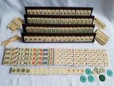 BONE & BAMBOO MAHJONG SET