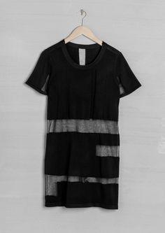 Contrast knit dress | Black | & Other Stories