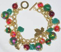 Handcrafted Holiday/Christmas Charm Bracelet