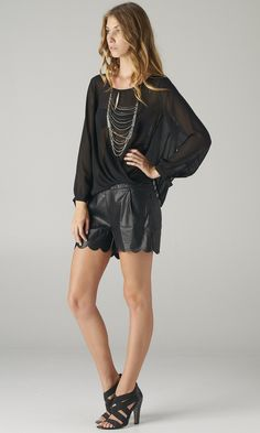 8e8e9f0d900 TWISTED SHEER WRAP BLOUSE