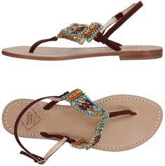 Emanuela Caruso Capri Toe strap sandals Womens Flip Flops 358ed1d2ecc