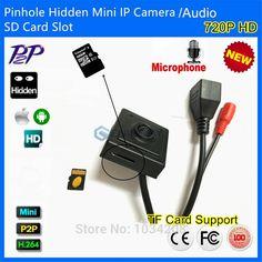 43.00$  Buy here  - New Audio&Video Super Mini Onvif IP camera Megapixel 720P HD Indoor Security CCTV IP Camera Pinhole 3.7mm Lens SD Card Slot P2P