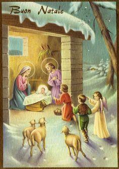 Vintage Miss Jane Christmas Nativity Card Christmas Card Images, Christmas Jesus, Christmas Nativity, Christmas Past, Vintage Christmas Cards, Vintage Holiday, Christmas Pictures, Christmas Greetings, Decoupage Vintage