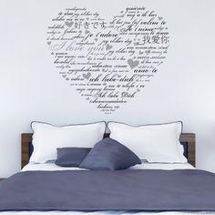 Samolepka na zeď Love You, cm Love You, Home Decor, Jewerly, Te Amo, Decoration Home, Jewlery, Je T'aime, Room Decor, Schmuck