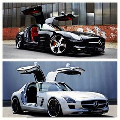 A couple 2012 Mercedes Benz SLS AMG's. One of the best looking supercars to date.