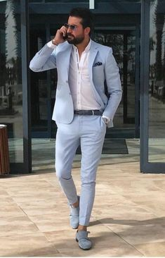 Men Suit Slim Fit Tuxedo Prom Wedding Blazer Style Gentle Tailor Made 2 Piece Terno – top.suzysfashion Men Suit Slim Fit Tuxedo Prom Wedding Blazer Style Gentle Tailor Made 2 Piece Terno Blue Blazer Outfit Men, Blazer Outfits Men, Mens Fashion Blazer, Stylish Mens Outfits, Suit Fashion, Casual Outfits, India Fashion Men, Men Blazer, Blazer Dress