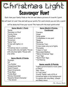 Christmas Light Scavenger Hunt 2