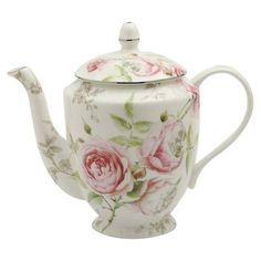 Beau Rose Bone China Teapot