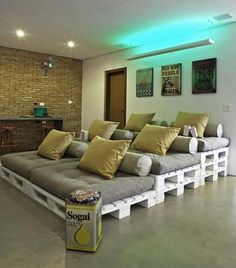 """Home theater low budget This might be """"on a budget"""" but I actually think this is so cleaver"""