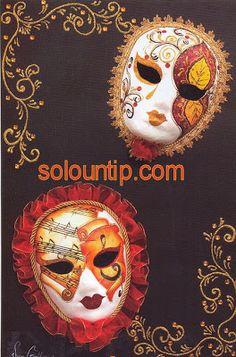 Crea unas bellas Máscaras de Fantasía ~ Solountip.com