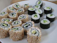 Homemade vegan sushi by Clafou, via Flickr