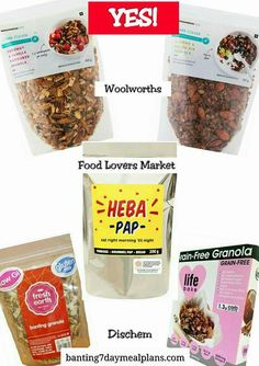 Banting Food List, Banting Diet, Banting Recipes, Lchf, Woolworths Food, Eat Right, Food Lists, Granola, Grain Free
