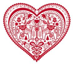 Swedish Valentine - would love to make a pillow like this