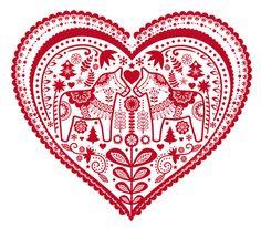 corazón nórdico con horses