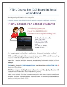 Html course for icse board in bopal ahmedabad