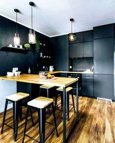 Kitchen Room Design, Best Kitchen Designs, Home Decor Kitchen, Home Kitchens, 3d Interior Design, Interior Design Kitchen, Contemporary Kitchen Design, House Design, Design Moderne