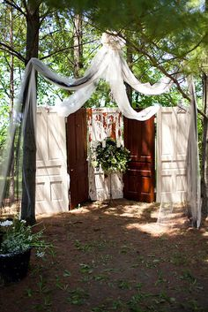 These would be great outside for the wedding. And I know where I can get the perfect doors.