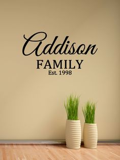 Custom Family Last Name Vinyl Decal - Family Vinyl Wall Art Decal, Family Name Vinyl, Personalized Vinyl, Home Decor, Family Decal, 23x13.1 by TheVinylCompany on Etsy