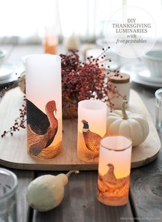 DIY Thanksgiving Luminaries | Creature Comforts Blog