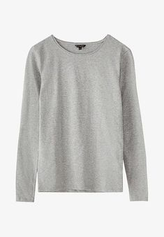 Massimo Dutti Long sleeved top - grey for with free delivery at Zalando My Wardrobe, Long Sleeve Tops, Pullover, T Shirts For Women, Elegant, Sweaters, Cotton, Fashion, Woman Shirt