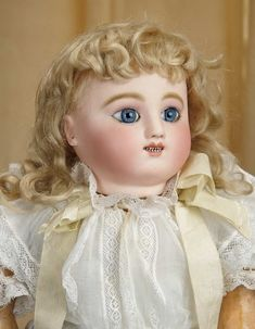 Sanctuary: A Marquis Cataloged Auction of Antique Dolls - March 19, 2016: French Bisque Bebe Gigoteur by Jules Steiner with Especially Beautiful Eyes
