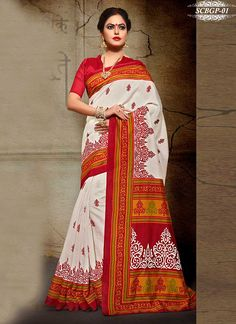 ff972ad33bdd04 Bhagalpuri Art Silk Wedding Saree With Partywear