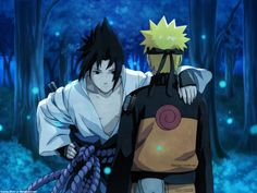 "Sasuke and Naruto of ""Naruto: Shippuden"""