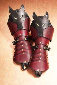 By Dmitriwolf on DeviantArt | Wolf gauntlets (leather)