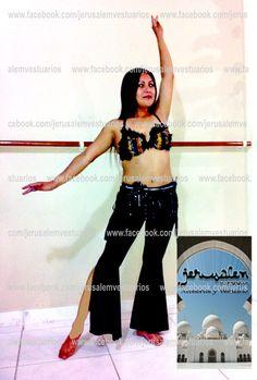 Pantalón tribal con abertura desde la rodilla, con faldilla recta y jaretas laterales. (bellydance, danza del vientre, vestuario, costume, custom made)