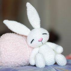 "160 Beğenme, 10 Yorum - Instagram'da Amigurumi toys вязаные игрушки (@nansyoops): ""Прикорнул малыш #амигуруми #amigurumi #animal #toy #rabbit #handmade #craft #cute #kawaii…"""