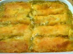Green Chicken Enchiladas.....you will think you are eating at a restaurant!