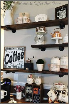 Wood Floating Shelves 8 inches Deep, Farmhouse Shelf, Rustic Shelf, Wooden Floating Shelf, Wood Wall Shelf, Wooden Floating Shelves #wood #wood #afflink #shelves #rustic #rusticdecor #rustickitchen #farmhouse #farmhousestyle