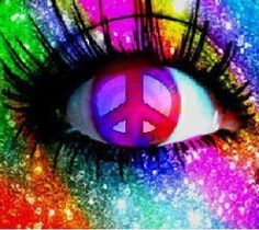 Rainbow peace eye! More about eyes at www.acureinsight.net.