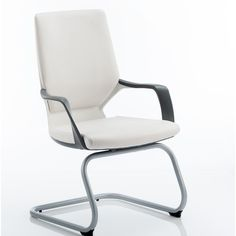 Turin Mid-Back Visitor Cantilever Chair Home & Haus Colour: White/White Office Seating, Office Chairs, Cantilever Chair, Conference Chairs, Executive Chair, Dcor Design, Barrel Chair, Chair Backs, Bonded Leather