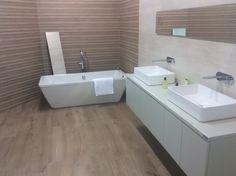 Modern Hotel bathroom wood tile by Keraben