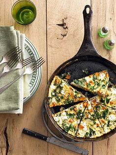 The whole family will gobble up this delicious and easy sweet potato frittata that is perfect for breakfast, lunch, or dinner.
